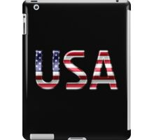 USA - American Flag - Metallic Text iPad Case/Skin