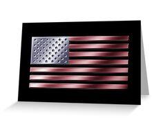 American Flag - USA - Metallic Greeting Card