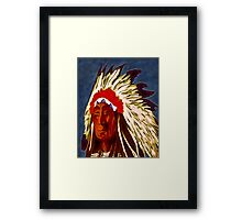 American Indian Chief Framed Print