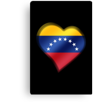 Venezuelan Flag - Venezuela - Heart Canvas Print