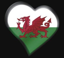 Welsh Flag - Wales - Heart Kids Clothes