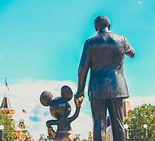 walt disney and mickey mouse.  by dkelly1126