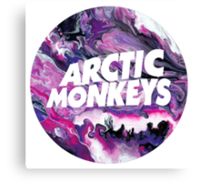 Arctic Monkeys Marble Canvas Print