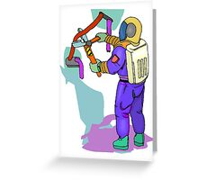 Astronaut Cutting Wire Greeting Card