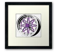 Purple and Black Rim Framed Print