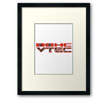 Carbon Fibre DOHC VTEC Honda Framed Print