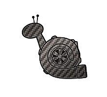 Carbon Fibre Turbo Snail Photographic Print