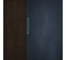 Brown and Blue Leather case by cinematography