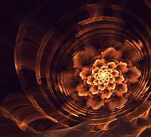 Interesting  abstract background in brown and golden tones  by Aepsilon