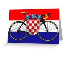 Bike Flag Croatia (Big - Highlight) Greeting Card