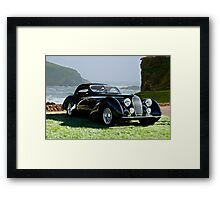 1938 Talbot Lago T150 C Speciale Tear Drop Coupe II Framed Print