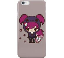 PASTEL GOTH GIRL WITH PENGUIN iPhone Case/Skin