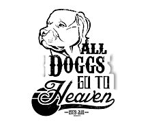 All Doggs Go To Heaven Photographic Print