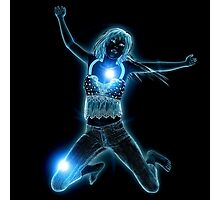 Blue glowing girl 3 Photographic Print