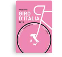 My Giro d'italia Minimal poster Canvas Print