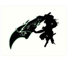 Riven - League of Legends - Black Art Print