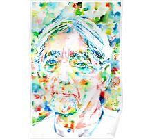 JIDDU KRISHNAMURTI watercolor portrait.3 Poster