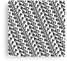 Bad Wolf - Doctor Who Graffiti Pattern Canvas Print