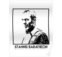 Stannis Baratheon Inspired Artwork 'Game of Thrones' Poster