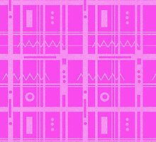 Geometric Pink Glitter by Carol Vega
