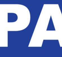Pennsylvania PA Euro Oval BLUE Sticker