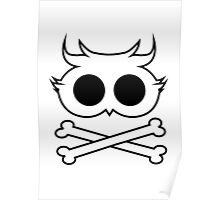 Owl Cross Bone Poster