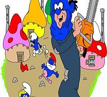 Smurf Village Chainsaw Massacre by mcbeefy