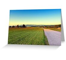 Autumn afternoon in the countryside | landscape photography Greeting Card