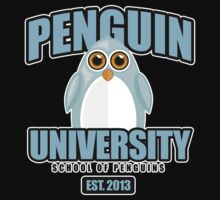 Penguin University - Blue 2 T-Shirt