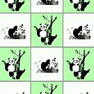 Pandas Checker - Green by Adamzworld