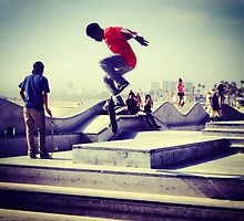 Los Angeles Skateboarder by benward646