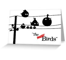 Hitchcock´s The angry Birds Greeting Card