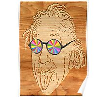 wooden Albert Einstein Poster