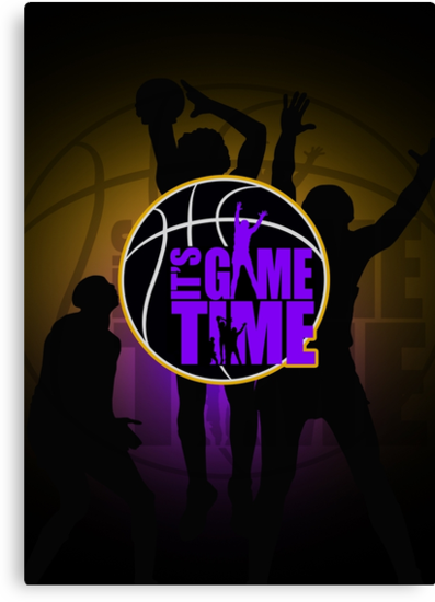 It's Game Time - Purple & Gold by Adamzworld