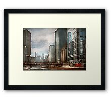 City - Chicago, IL -  Building a new city Framed Print