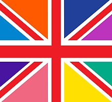 Rainbow Union Jack by ArtfulDoodler