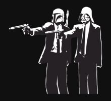 Pulp Fiction-Darth & Boba Hit Men by teeshirtninja