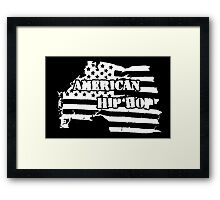American Hip Hop (White) Framed Print