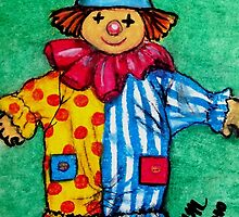 Illustration - Children's Book - Clown / Hanswors by Mariaan M Krog Fine Art Portfolio