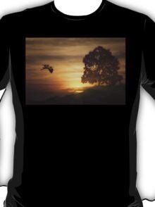 Heron At Sunset T-Shirt