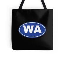 Washington State WA Euro Oval BLUE Tote Bag