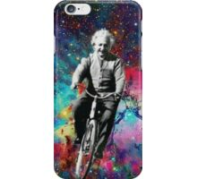 Albert Einstein fait du velo  iPhone Case/Skin
