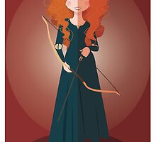 Symmetrical Princesses: Merida by Jennifer Mark