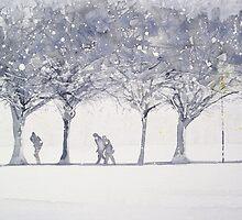 Snowy Meadows by Ross Macintyre