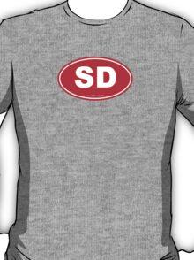 South Dakota SD Euro Oval RED T-Shirt