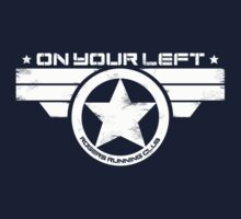"""On Your Left"" Version 5 Distressed Print (also available in blue on white) T-Shirt"