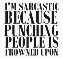 SARCASTIC PUNCHING PEOPLE BLK by Glamfoxx