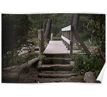 Bridge Over a Creek Mouth (French Beach Provincial Park, Vancouver Island, British Columbia, Canada) Poster