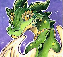 Cute Green Dragon  by cybercat