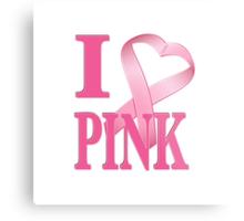 I Heart Pink Metal Print